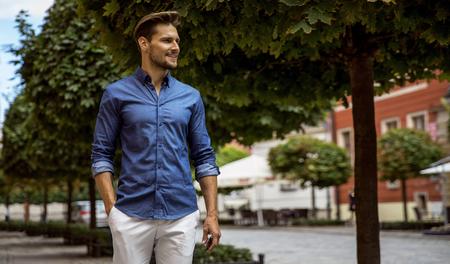 Handsome male model smiling