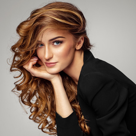 Portrait of beautiful female model Фото со стока