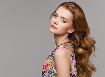 Natural portrait of a beautiful female model
