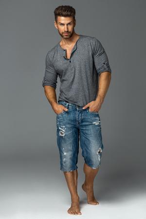 full silhouette of handsome male model