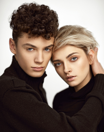 Portrait of sensual young couple