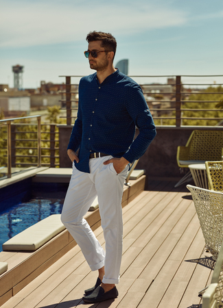 Portrait of handsome man in summer outfit Stockfoto