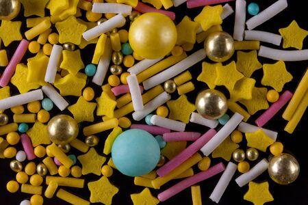 Sweet decoration for confectioners yellow tones Foto de archivo - 138468832