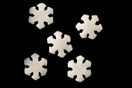 Sweet decoration for confectioners snowflakes