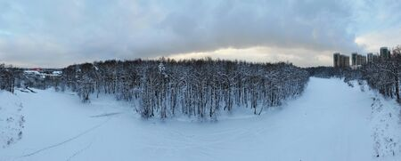 180 lake panorama in the forest