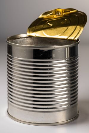 Color photo of the empty cans. An isolated object on a white background.