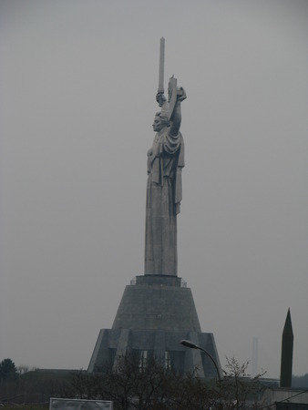 nazism: Monument woman, symbolizing the victory in the war against Nazism.