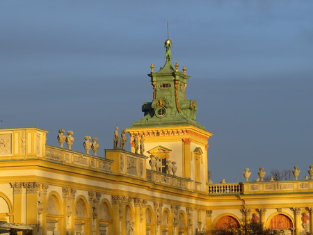 wilanow: Wilanow Palace of the Polish king in Warsaw.