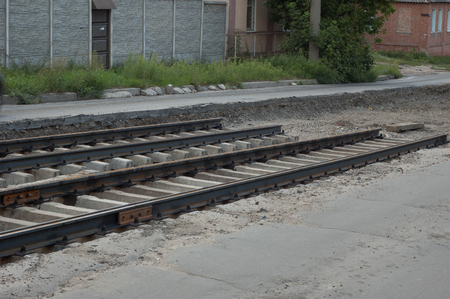 Unusable railway, which needs to be repaired