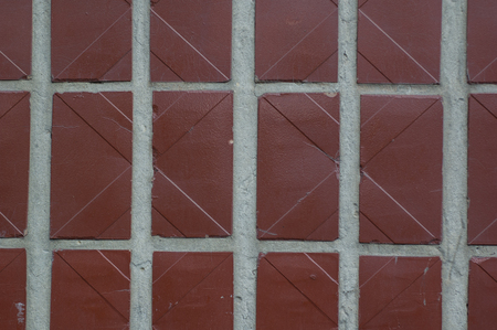 homes: Covering Homes brown tiles rectangular shape as an abstract background Stock Photo