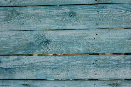 artistic abstract background: bluish-green wooden fence Foto de archivo