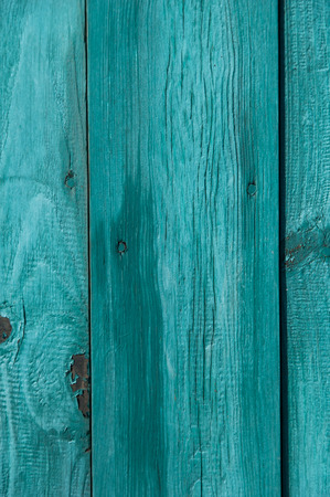 artistic abstract background: bluish green wooden fence
