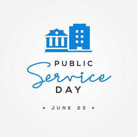 Public Service Day Vector Design Illustration