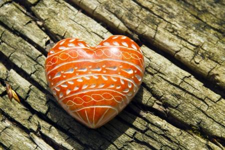 red stone Heart Stock Photo - 17546201