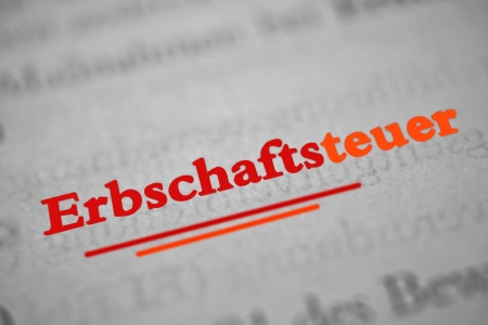 the inheritance: Inheritance tax -  Erbschaftsteuer  is the German word of inheritance tax