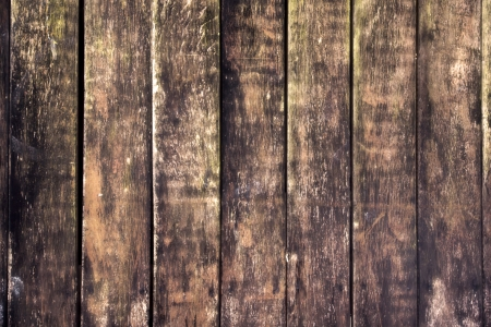 Old wooden wall - An old outworn wooden wall