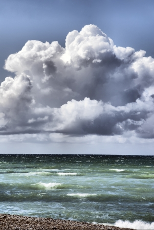 stormy sea - A storm moves over the ocean   Stock Photo