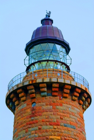 lighthouse - The tower of a lighthouse in Denmark  Stock Photo