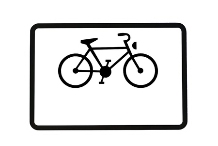 Bikeway - The sign for a bike lane on the road