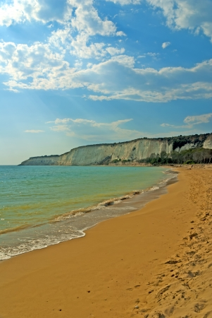 Sicilian beach - The beach of Scala dei Turchi near Agrigento on the island Sicily