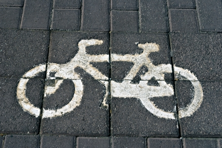 bikeway: Bikeway - The sign for a bike lane on the road