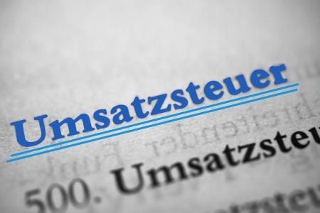 remission: imposta sulle vendite - Umsatzsteuer � la parola tedesca per l'imposta sulle vendite