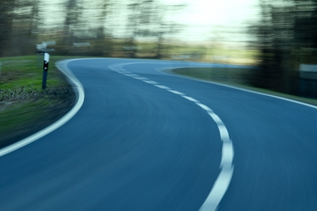 speed - Driving at high speed down the street