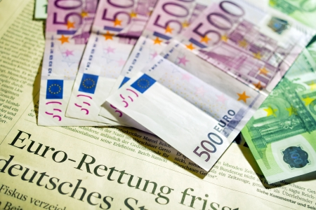 Currency - Close-up from European euro banknotes