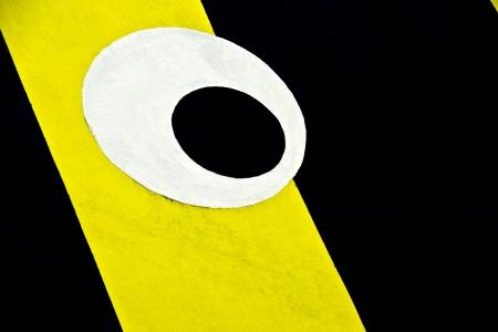 Big eye - A big eye on black and yellow background Stock Photo - 18655119