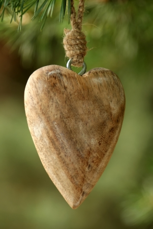 the sincerity: Wooden Heart - A carved wooden heart on a wooden beam