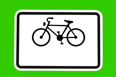 optionnel: Signe de v�los - A bicyclette sur un panneau de signalisation en option