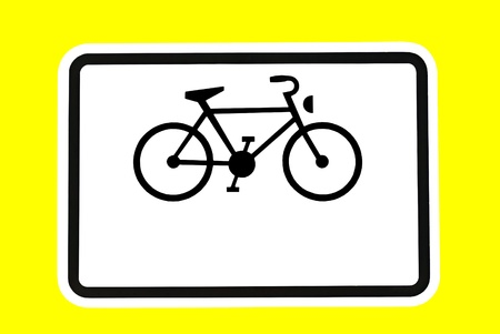 optional: Bicycle sign - A bicycle on a traffic sign  Optional