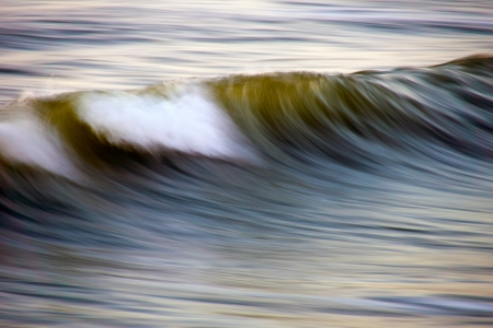 stormy North sea - A North Sea wave photographed with a special technique  Stock Photo