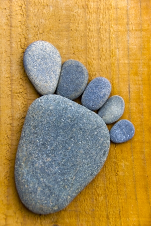 flatfoot: Stonefoot II  - A foot made of pebbles  Stock Photo