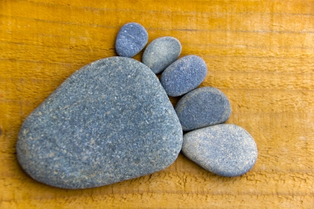 flatfoot: Stonefoot III  - A foot made of pebbles