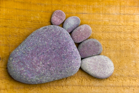 occurs: Stonefoot IV  - A foot made of pebbles