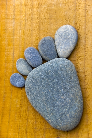 flatfoot: Stonefoot VI  - A foot made of pebbles
