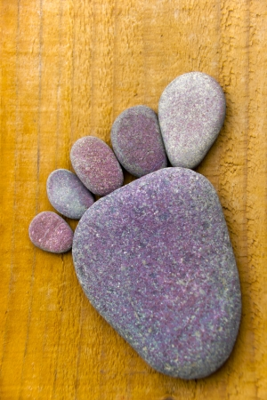 flatfoot: Stonefoot VII  - A foot made of pebbles