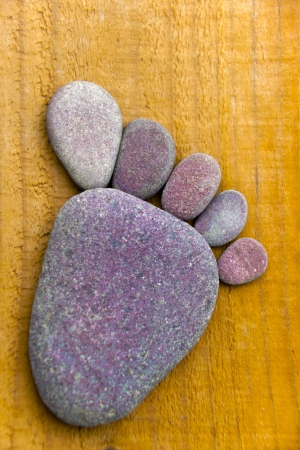 flatfoot: Stonefoot VIII  - A foot made of pebbles  Stock Photo
