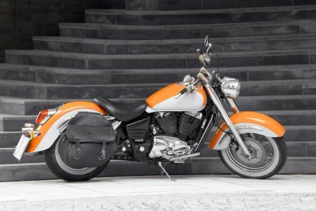 Motorbike in orange