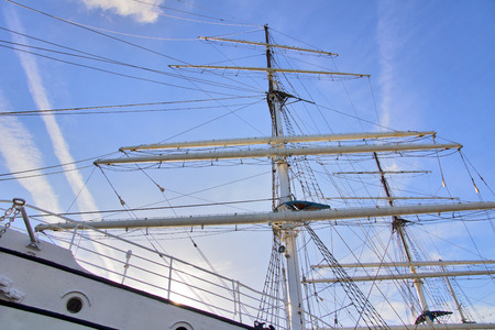 foretop: Sailing ship - The large mast of an old sailing ship.