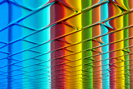 brilliant colors: Colores brillantes - colores del arco iris en una superficie de dise�o abstracto brillante