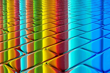 brilliant colors: Colores brillantes - colores del arco iris en un dise�o abstracto de superficie brillante Foto de archivo