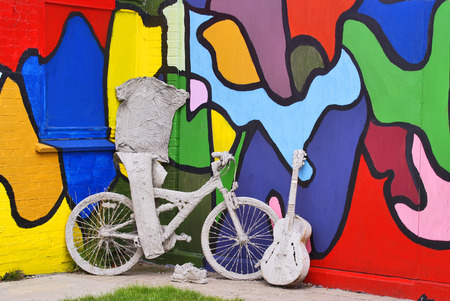 Teen Art - Objects dipped in gypsum and colorfully painted walls