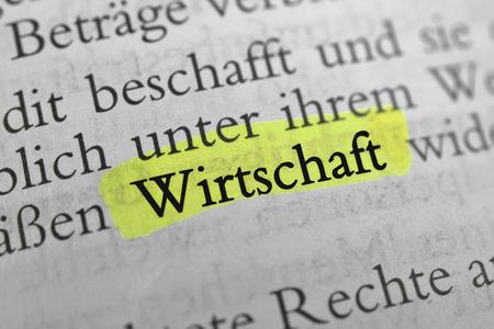 Economy - Economy is the German word of economy.