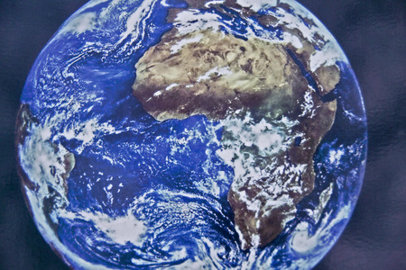 Our Earth - The Earth globe facing Africa. photo
