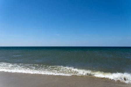 moderate: North Sea Coast - The North Sea coast at moderate wind and waves.