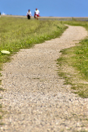 The Way - A hiking trail on a dike at the Baltic Sea in northern Germany. photo