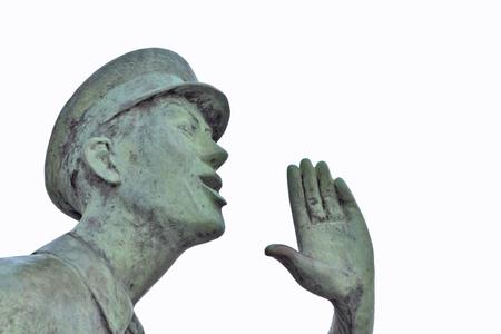 Rufer statue in Lauenburg Editorial