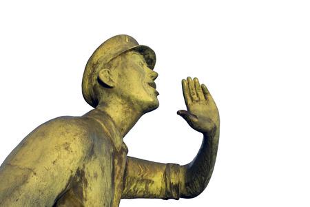 caller: Rufer statue in Lauenburg Editorial
